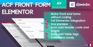 ACF Front Form for Elementor Page Builder v2.0.0