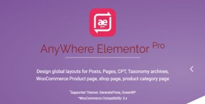 AnyWhere Elementor Pro v2.14.20 - Global Post Layouts