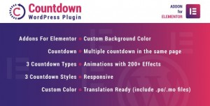 Countdown for Elementor v1.0.0 - WordPress Plugin