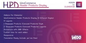 WooCommerce Header Products Display for Elementor v1.0 - WordPress Plugin