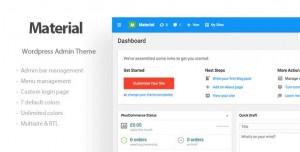 Materil v1.2.0 - Wordpress Material Design Admin Theme