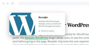 Revealer v2.0.1 - Navigation popup for WordPress links