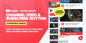 Youtube Channel Feeds and Subscribe Box v1.0.0 - WordPress Plugin