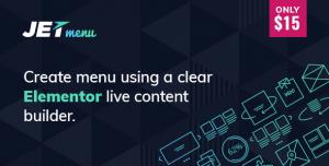 JetMenu v1.5.15 - Mega Menu for Elementor Page Builder