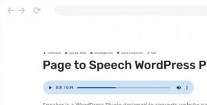 Speaker v2.0.3 - Page to Speech Plugin for WordPress