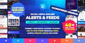 Asgard v1.1.3 - Social Media Alerts & Feeds WordPress Builder - Facebook, Instagram, Twitch and more