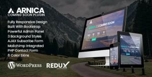 Arnica v1.0.2 - Creative Coming Soon WordPress Plugin