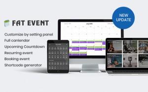 FAT Event v3.0 - WordPress Event and Calendar Booking