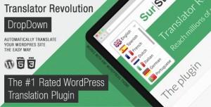 Ajax Translator Revolution v2.1 - DropDown WP Plugin
