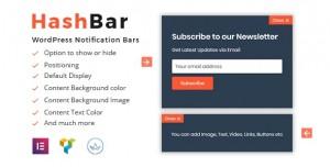 HashBar Pro v1.1.2 - WordPress Notification Bar