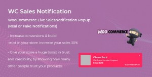 WooCommerce Live Sales Notification Pro v1.0.0