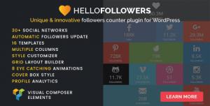 Hello Followers v2.5 - Social Counter Plugin for WordPress