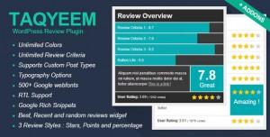 Taqyeem v2.2.6 - WordPress Review Plugin