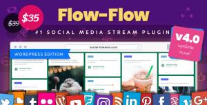 Flow-Flow v4.1.22 - WordPress Social Stream Plugin