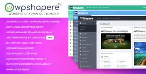WPShapere v6.0.1 - Wordpress Admin Theme