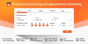 Bookly PRO v17.6 – Appointment Booking and Scheduling Software System