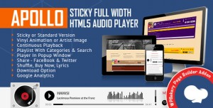 Apollo v1.7 - Audio Player for WPBakery Page Builder