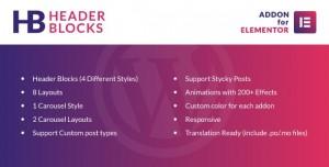 Header Blocks for Elementor v1.0 - WordPress Plugin