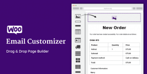 WooCommerce Email Customizer with Drag and Drop v1.5.15