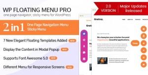 WP Floating Menu Pro v2.0.7 - One page navigator, sticky menu for WordPress