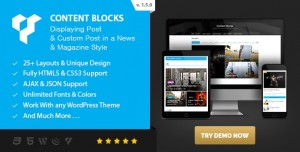 Content Blocks Layout For WPBakery Page Builder (Visual Composer) v1.5.0 - News & Magazine Style