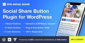 Epic Social Share Button for WordPress v1.0.2