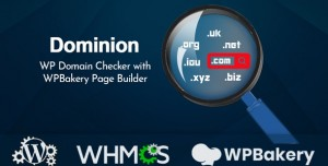 Dominion v1.0.0 - WP Domain Checker with WPBakery Page Builder