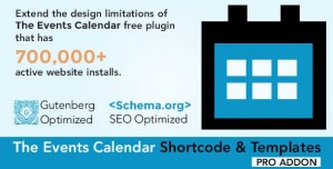 The Events Calendar Shortcode and Templates Pro v2.0.0