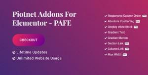 Piotnet Addons Pro For Elementor v5.0.21