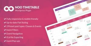 Noo Timetable v2.0.6.2 - Responsive Calendar & Auto Sync