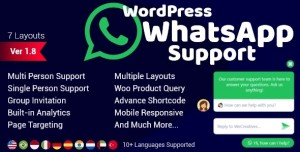 WordPress WhatsApp Support v1.9.6