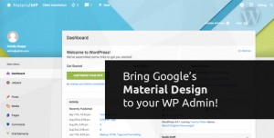 Material WP v1.0.4 - Material Design Dashboard Theme