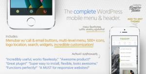 Touchy v3.4 - A WordPress mobile menu plugin