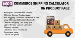 Woocommerce Shipping Calculator On Product Page v2.3