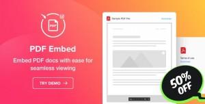 PDF Embed v1.0.0 - WordPress PDF Viewer plugin
