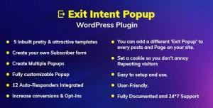 Exit Intent v1.0.0 - Popup WordPress Plugin