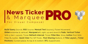 Pro News Ticker & Marquee for Visual Composer v1.3.2