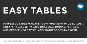 Easy Tables v2.0.1 - Table Manager for WPBakery Page Builder