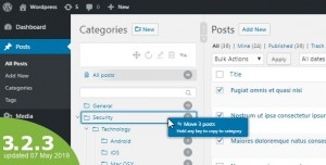 WordPress Real Category Management 3.2.3 - Custom category term order / Tree view
