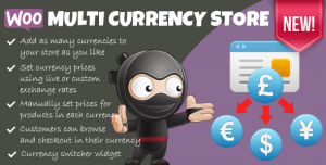 Woocommerce Multi Currency Store v1.9.8