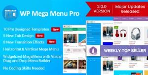 WP Mega Menu Pro v2.0.5 - Responsive Mega Menu Plugin
