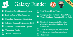Galaxy Funder v10.9 - WooCommerce Crowdfunding System
