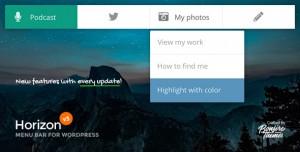 Horizon v3.2 - Menu Bar Plugin for WordPress