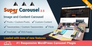 Super Carousel v3.5.5 - Responsive Wordpress Plugin