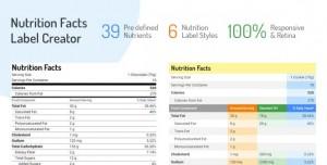 Nutrition Facts Label Creator v1.2.0