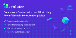 JetGuten v1.1.2 - Blocks Set Addon for Gutenberg Editor