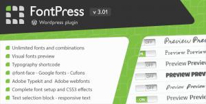 FontPress v3.01 - Wordpress Font Manager