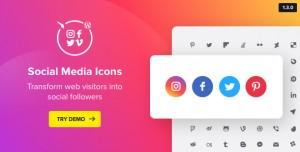 WordPress Social Media Icons v1.7.0 - Social Icons Plugin