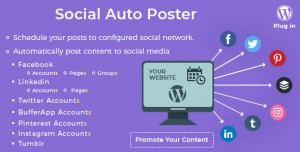 Social Auto Poster v3.9.0 - WordPress Plugin