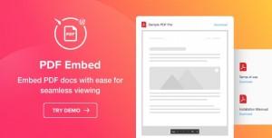 PDF Embed v1.1.0 - WordPress PDF Viewer plugin